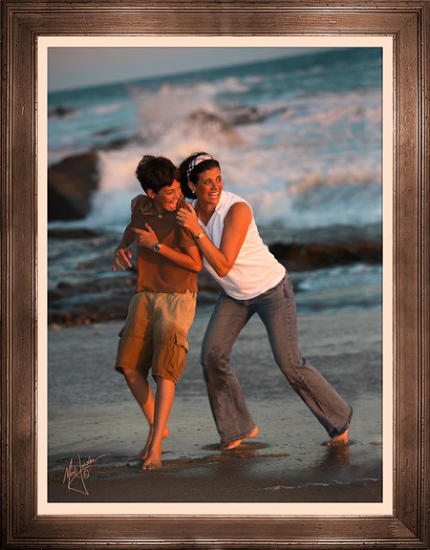 Orange County Beach Photographer, Mark Jordan Photography, Family Portrait Photography of Mother & Son in Laguna Beach, CA