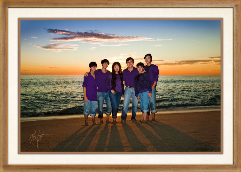 Orange County Beach Family Portraits by Orange County Beach Photographer